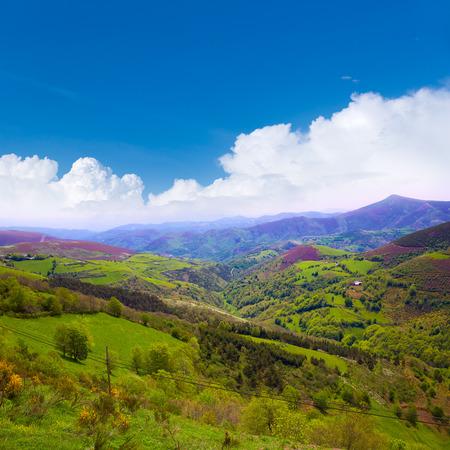 galicia: O Cebreiro mountains by the way of Saint James in Galicia Spain Stock Photo