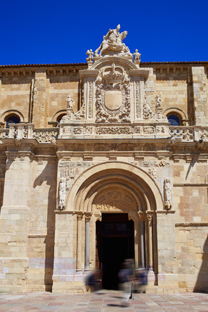 xacobeo: Leon San Isidoro church by the way of saint James at Castilla Spain