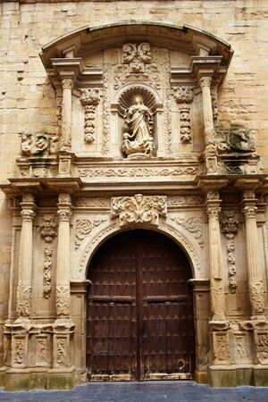 rioja: Logrono Cathedral of Santa Maria la Redonda in La Rioja way of saint james Stock Photo
