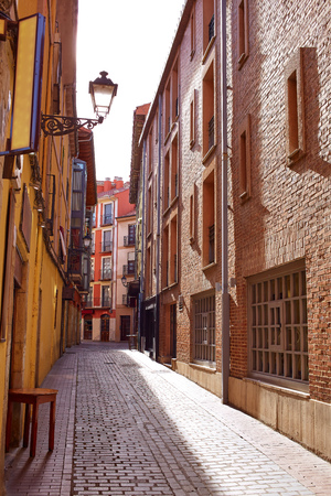 castilla: Leon downtown street by the way of Saint James at Castilla Spain Stock Photo