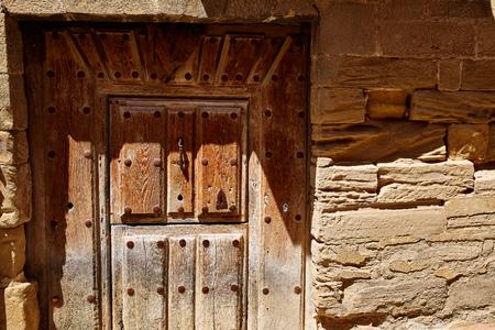 pilgrim journey: Granon in The way of Saint James in La Rioja Logrono
