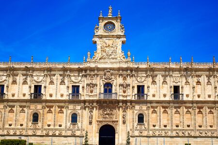 castilla: San Marcos in Leon at the way of Saint James Castilla Spain