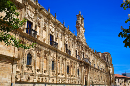 xacobeo: San Marcos in Leon at the way of Saint James Castilla Spain