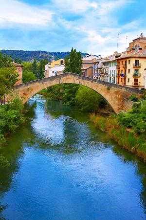 navarra: Estella bridge in Way of Saint James at Navarra Spain Stock Photo