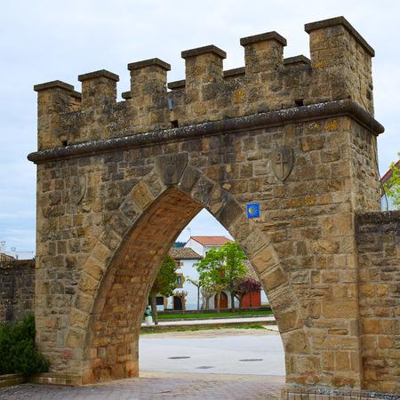 navarra: Obanos Plaza de los Fueros in Saint James Way at Navarra Spain