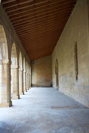 xacobeo: Obanos church in Saint James Way at Navarra Spain San Juan Bautista
