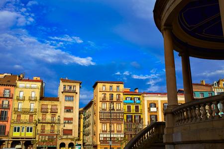 xacobeo: Pamplona Navarra in Spain plaza del Castillo square downtown