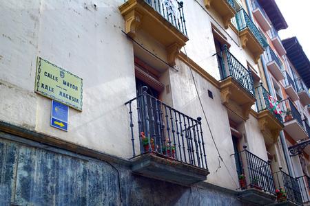 xacobeo: Way of Saint James in Pamplona Calle Mayor street Spain
