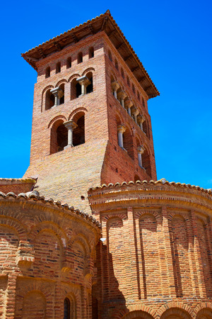 the french way: Sahagun at Saint James Way in San Benito monastery ruins Leon Spain