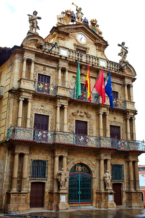 navarra: Pamplona Navarra Ayuntamiento city Hall square way of Saint James