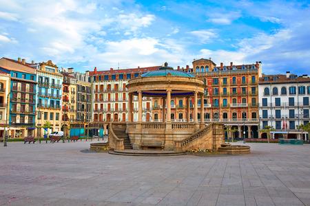 スペイン広場でパンプローナ ナバラ ・ デル ・ カスティーリョ広場ダウンタウン 写真素材