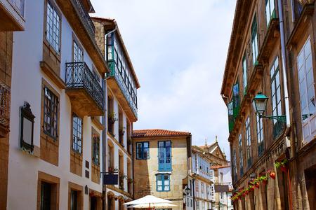 touristic: Santiago de Compostela end of Saint James Way in Galicia Spain