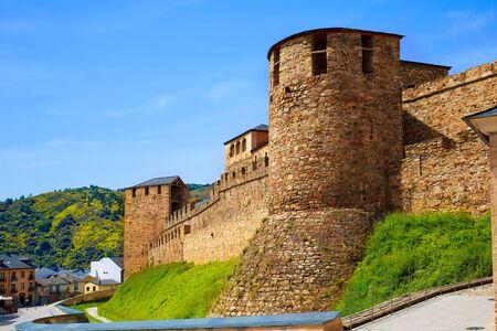 camino de santiago: Way of Saint James by Ponferrada Castle El Bierzo of Leon