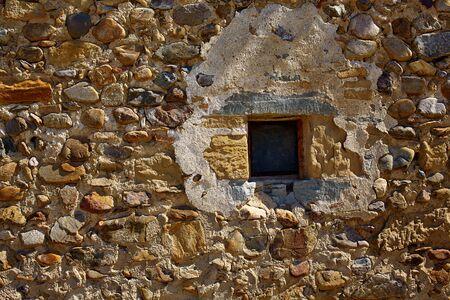 way of st james: The Way of Saint James stone masonry walls in Redecilla del Camino Castilla Burgos