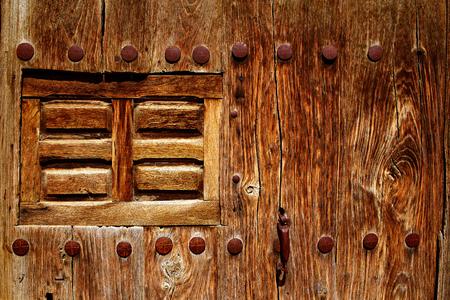 camino: The Way of Saint James door in Redecilla del Camino Castilla Burgos Stock Photo