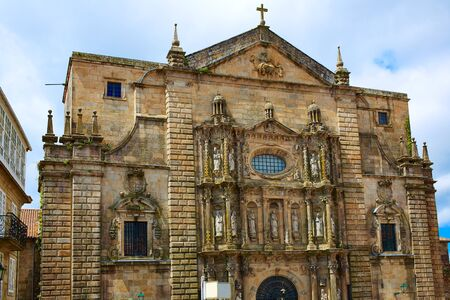 xacobeo: Santiago de Compostela end of Saint James Way San Matino Pinario church in Galicia Spain Stock Photo