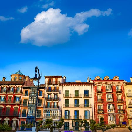 navarra: Pamplona Navarra in Spain plaza del Castillo square downtown