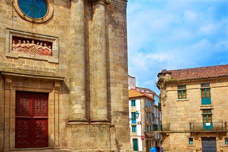 xacobeo: Santiago de Compostela Animas Chapel end of Saint James Way in Galicia Spain Stock Photo