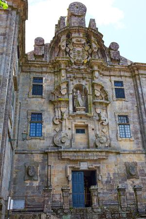 convento: Santiago de Compostela end of Saint James Way Santa Calra Convento in Galicia Spain