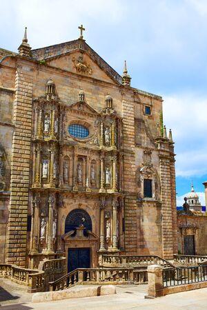 kirk: Santiago de Compostela end of Saint James Way San Matino Pinario church in Galicia Spain Stock Photo