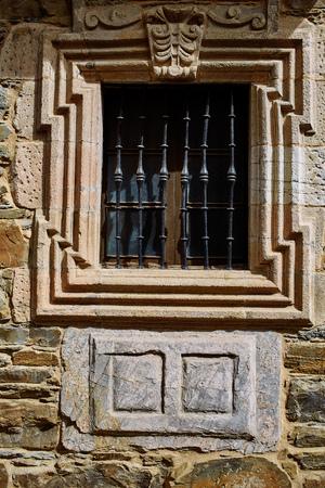 deatil: Villafranca del Bierzo by Way of Saint James in Leon Spain Stock Photo