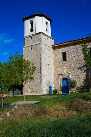 castilla: Villambistia church in Saint James Way by Castilla Burgos