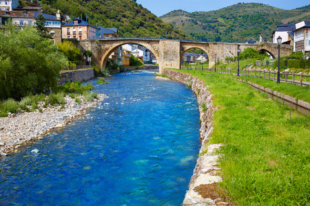 xacobeo: Villafranca del Bierzo by Way of Saint James Burbia river in Leon Spain