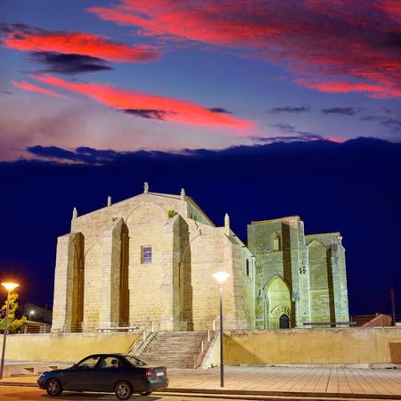 xacobeo: Villalcazar de Sirga sunset church Santa Maria la Blanca Way of Saint James in Palencia