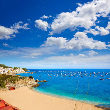 costa brava: Calella de Parafrugell beach in Costa Brava of Girona at Catalonia Spain Stock Photo
