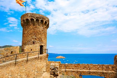 mediterraneo: Tossa de Mar castle in Costa Brava of Catalonia Spain