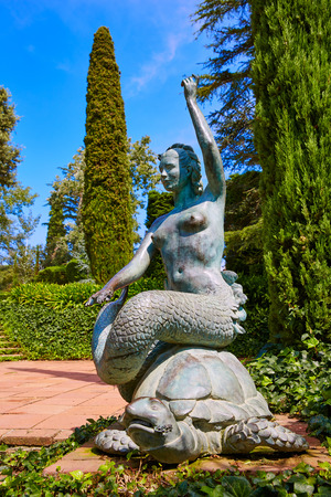 costa brava: Santa Clotilde gardens in Lloret de Mar at Costa Brava of Catalonia Girona Spain Stock Photo