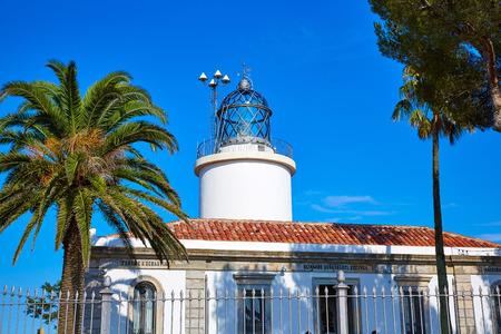 lejos: Costa Brava-San Sebastián Faro lejos de Cataluña Girona España