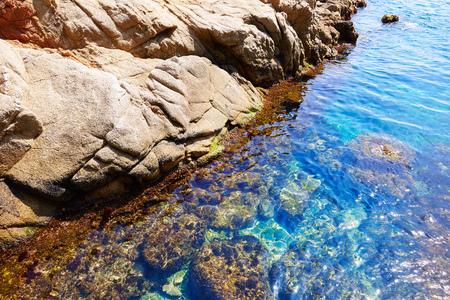 mountain landscape: Costa Brava beach Lloret de Mar in Catalonia Cala Banys at Spain