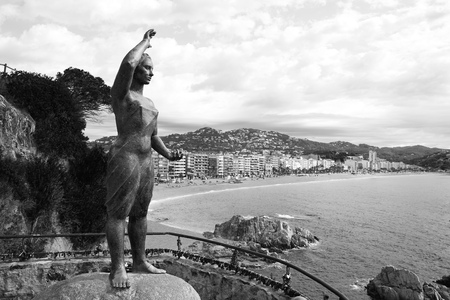 costa brava: sea woman in Lloret de Mar at Costa Brava called Mujer Marinera at Catalonia