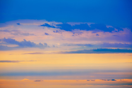 sunset sky: Sunset sky in red orange and blue texture background Stock Photo