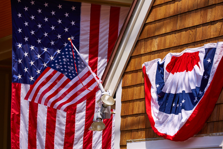 banderas america: Cape Cod Provincetown en Massachusetts EE.UU. Foto de archivo