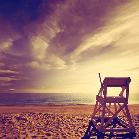 lifeguard tower: Cape Cod Herring Cove Beach in Massachusetts USA