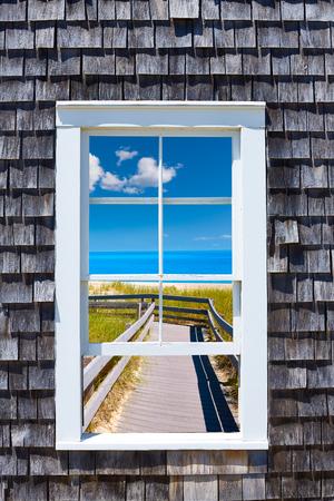 cape: Cape Cod window photomount Massachusetts USA