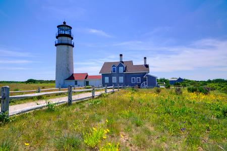 cape: Cape Cod Truro lighthouse in Massachusetts USA