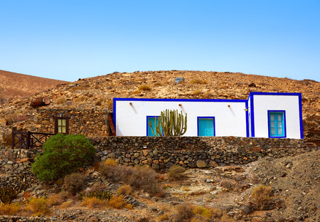 islas: Fuerteventura white house at Canary Islands of Spain