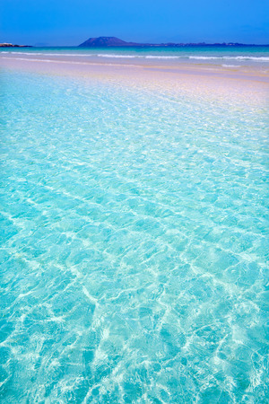 Corralejo Beach Fuerteventura at Canary Islands of Spain Stock Photo