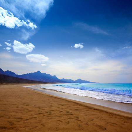 islas: Cofete Fuerteventura Barlovento beach at Canary Islands of Spain Stock Photo
