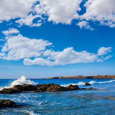 atlantic ocean: El Cotillo Castillo Beach in Fuerteventura at Canary Islands of Spain