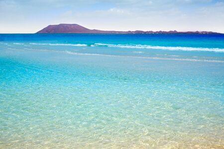 corralejo: Corralejo Beach Fuerteventura at Canary Islands of Spain