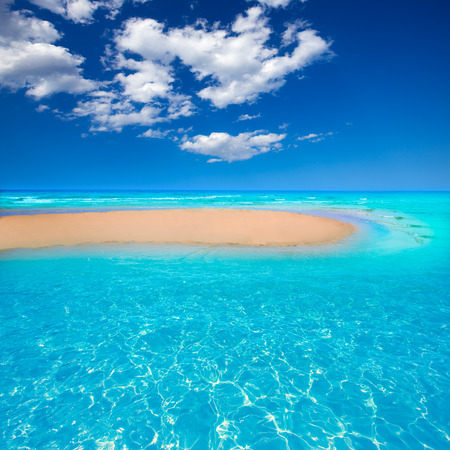 Fuerteventura Jandia Beach Sotavento at Canary Islands of Spain Stock Photo