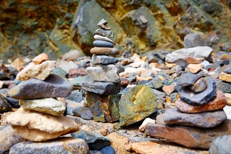 islas: Ajuy stone textures in Fuerteventura at Canary Islands Stock Photo