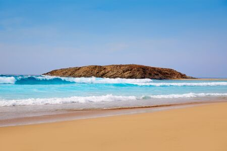 sea wave: Cofete Fuerteventura Barlovento beach at Canary Islands of Spain Stock Photo