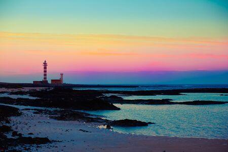 islas: El cotillo Toston beach sunset Fuerteventura at Canary Islands of Spain