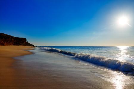 islas: El Cotillo Castillo Beach in Fuerteventura at Canary Islands of Spain