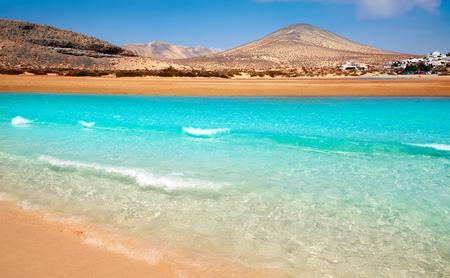 ハンディア ビーチ リスコ エル パソ フェルテベントゥラ島スペインのカナリア諸島で 写真素材